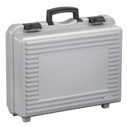 valise plastique grise