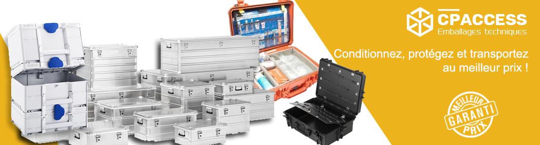 Protégez, conditionnez, tranportez avec les caisses techniques CP Access.